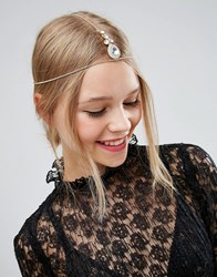 Asos Crystal Hair Crown Gold