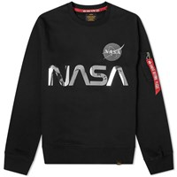 Alpha Industries Nasa Reflective Crew Sweat Black