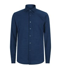 Slowear Dotted Casual Shirt Male Navy