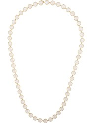 Irene Neuwirth 18Kt Yellow Gold Rainbow Moonstone Necklace White