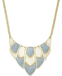 Style And Co. Glitter Cut Out Bib Necklace Gold