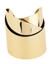Alexis Bittar Golden Metal Geometric Ribbon Cuff Women's