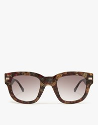 Acne Studios Frame Metal In Brown Bordeaux Brown Bordeaux