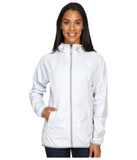 The North Face Fastpack Wind Jacket Tnf Light Grey Heather Mid Grey Purdy Pink Women's Coat Gray