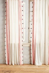 Anthropologie Fete Tassel Curtain Red