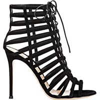 Gianvito Rossi Women's Caged Lace Up Sandals Black