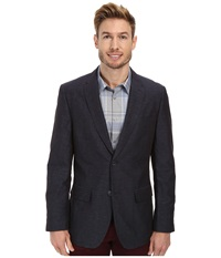 Perry Ellis Slim Fit Linen Suit Jacket Navy Men's Jacket