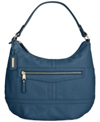 Tignanello Pretty Pocket Leather Hobo Sailor Blue