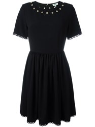 Kenzo Fit And Flare Dress Black