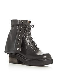 See By Chloe Katerina Lace Up Booties Black