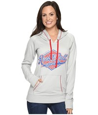 Rock And Roll Cowgirl Pullover Hooded 48H8224 Grey Women's Clothing Gray
