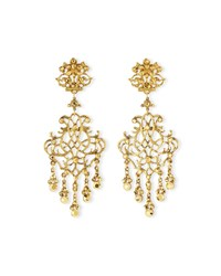 24K Plated Scroll Chandelier Clip Earrings Gold Jose And Maria Barrera