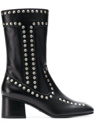 Coach Studded Boots Black