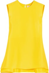 Roksanda Ilincic Roksanda Fuji Silk Top Bright Yellow