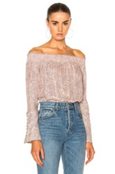 Derek Lam 10 Crosby Off The Shoulder Top In Neutral Pink Neutral Pink