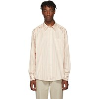 Ami Alexandre Mattiussi White And Pink Classic Wide Fit Shirt