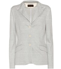 Loro Piana Cotton And Linen Blazer Grey
