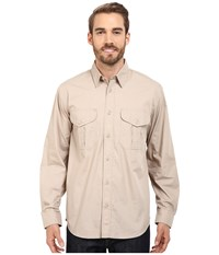 Filson's Feather Cloth Shirt Desert Tan Men's Clothing Taupe