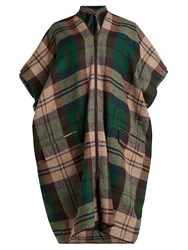 Vivienne Westwood Checked Tweed Coat Green