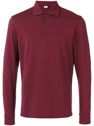 Aspesi Longsleeved Polo Shirt Red