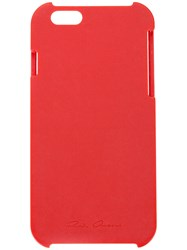 Rick Owens Iphone Case Men Acetate One Size Red