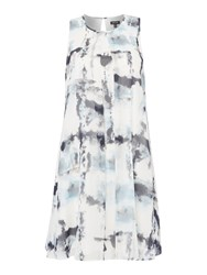 Episode Sleeveless Printed Dress Blue