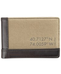 Calvin Klein Men's Canvas Billfold Wallet Fatigue