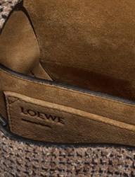Loewe Gate Tweed Small Bag Brown
