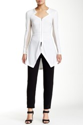 Yigal Azrouel Starr Long Sleeve Top White