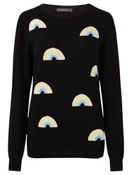 Sugarhill Boutique Rainbow Repeat Jumper Black