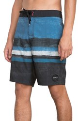 Rvca Men's Stringer Board Shorts Dark Blue