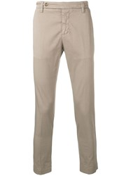 Entre Amis Slim Fit Tailored Trousers Neutrals