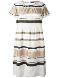 Max Mara Studio Laude Dress Women Silk Cotton Polyester Spandex Elastane S Nude Neutrals