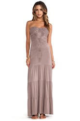 Sky Lapis Maxi Dress Taupe