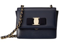 Salvatore Ferragamo 21E479 Ginny Oxford Blue Handbags