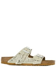 Rick Owens Crinkle Effect Metallic Tone Sandals Gold