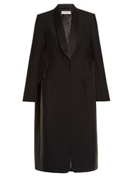 Balenciaga Shawl Lapel Single Breasted Coat Navy