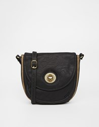 Nica Cross Body Bag With Fox Stud Detail Black