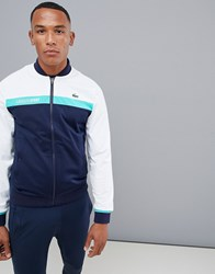 Lacoste Sport Bomber Track Jacket In Navy