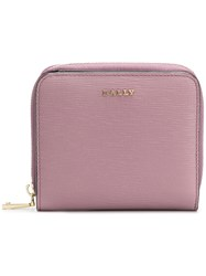 Bally Loppy Zip Around Wallet Pink And Purple