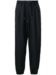 Golden Goose Deluxe Brand Drawstring Waist Trousers Blue