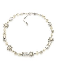 Carolee 21 Club 8Mm 6Mm Mother Of Pearl And Faux Pearl Collar Necklace White
