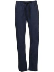 Semicouture Relaxed Cropped Trousers Blue