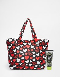 Anna Sui Asos Exclusive Heart Print Make Up Bag With Handcream Heartprint