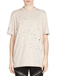 Givenchy Destroyed Logo Jersey Tee Pale Pink