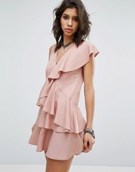 Religion Dress In All Over Ruffles Pink