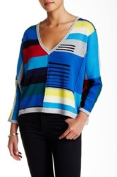 Plenty By Tracy Reese Colorblock Pullover Sweater Multi