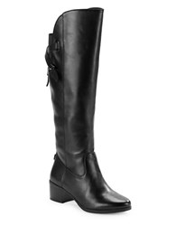 Anne Klein Junip Wide Calf Riding Boots Black