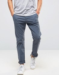 Esprit Slim Fit Chino In Brushed Cotton Navy 430
