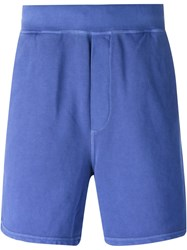 Dsquared2 Surfer Print Track Shorts Blue